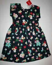 NUEVO Hanna ANDERSSON Azul Marino Flores cotidiano PLAY Dress Size 140 OR 10 Año