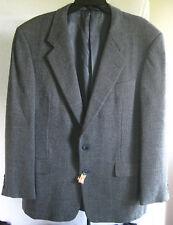 EUC Men's Hickey Freeman Wool Sport Coat 42 Regular Gray Boardroom Model H204