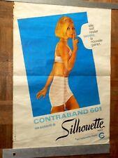 Affiche Ancienne Gaine Silhouette Girdle Lingerie Undies Pin Up Années 60 Poster