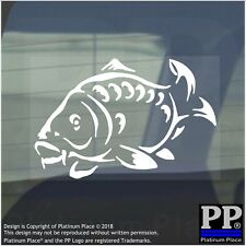 Carp-Vinyl Sticker-Car Window Graphic Sign Animal,Fish,Swim,Fishing,Freshwater
