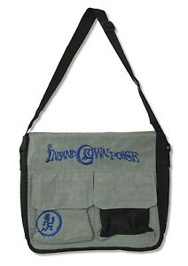 Insane Clown Posse Blue Logo On Grey Black Messenger Bag New Official Band
