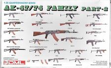 USED DML AK47/74 Family Assault Rifle Weapon Set Part 2 in 1/35  3805