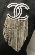 New Chanel Runway 2016 2017 Top Crystal Dress Jacket pin Brooch XL CC In Bag Box