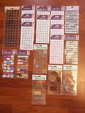 Lot of 18 Sheets of Scrapbooking Alphabet and Word Bubble Stickers - NEW