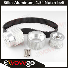 "12A 13B 20B 15mm RX7 FD FC RX3 Gilmer Drive Pulley Kit 1.5"" Notch Belt Silver"