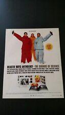 "Beastie Boys ""The Sounds Of Science"" 1999 Rare Original Print Promo Poster Ad"
