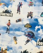 Fortnite 100 % Cotton Fabric  1/2 Yard  18 X 60 Ships Today