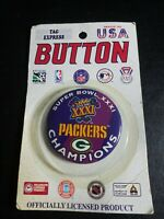 GREEN BAY PACKERS SUPER BOWL XXXI CHAMPIONS NFL FOOTBALL VINTAGE PINBACK/BUTTON