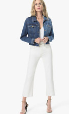 JOE'S JEANS THE WYATT WHITE HIGH RISE CROP FLARE Size 27 Was £194.95 Now £85
