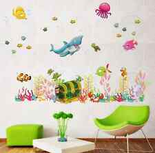 Sea Life Submarine World Fish Shark Children Boy/Girl Wall Stickers Decor UK