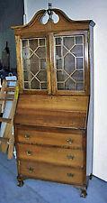 Art Deco 1920s Maddox Tables Mahogany Secretary Desk Bookcase Price Lowered MO