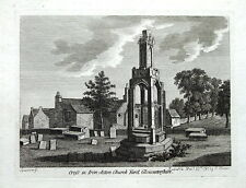 GLOUCESTERSHIRE,IRON ACTON PREACHING CROSS,  Hooper,  Grose , Antique Print 1787