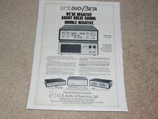 Luxman Ad, 1 pg, C-5000a Pre, M-4000a Amp, C-120a, M-120a, Article, Info 1977