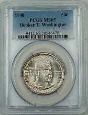 1948 Booker T Washington Silver Half Dollar PCGS MS-65 Lightly Toned Very Scarce