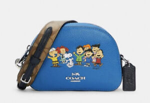 NWT Coach X Peanuts Mini Serena Satchel With Snoopy And Friends 6490