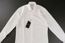 SAINT LAURENT Yves Collar Shirt White Cotton Poplin 37 / 14.5 NWT $550