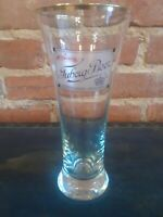 """TUBORG Vintage Tall Beer Glass with Gold Rim Denmark 500ml 7"""" Tall"""