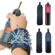 Blue Magnetic Wristband Wrist Band Tool Belt Cuff Bracelet Nail Screw Kit Set