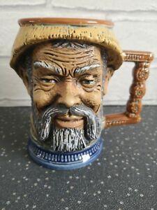 Hand Painted Face Mug Beer Stein Signed S. ORVIS RIP Vietata C.C. Art 2598 Italy