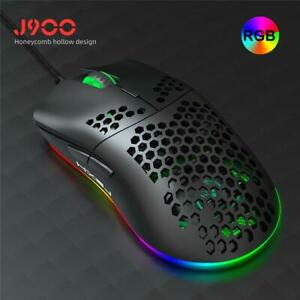 Hxsj J900 Usb Wired Gaming Mouse Rgb Gamer Mouses With Six Adjustable Dpi Honeyc