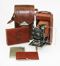 AGFA Nitor Luxus Folding Film Camera w/ Helostar f6.3/10.5cm Lens -SCARCE (HZ63)