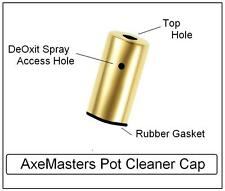 AxeMasters POT CLEANER CAP for DeOxit Flush of Guitar / Amp Potentiometers