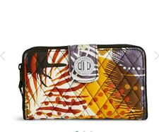NEW Vera Bradley Turn Lock Wallet in Painted Feathers.  Retail $49 Fast Shipping