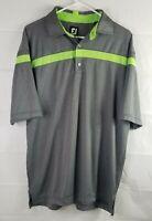 FootJoy XL Mens Short Sleeve Mens Gray Golf Polo Shirt