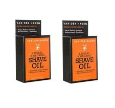 Van Der Hagen Natural and Organic Shave Oil for Smoother Closer Shaves, 1 Oz 2Pk