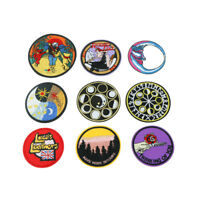 Embroidered round Sew Iron On Patches Badge Fabric Bag Clothes Applique Craft UK