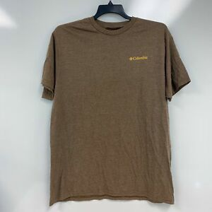 Columbia Mens Major Heather Brown Bear Graphic T-Shirt Size XL $28