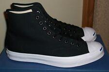 ·CONVERSE Jack Purcell Signature Hi-Top BLACK / BLACK Sneakers MENS size 10.5