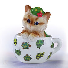 Out of My Shell Kitten / Cat in a Tea Cup Bradford - Cups of Affection