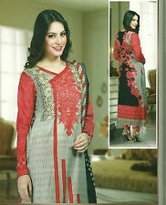 pakistaner schön sommer designer baumwolle rasen salwar kameez gelöste anzug