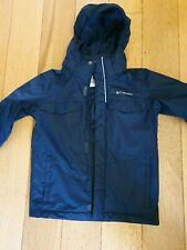 Boys VGC Columbia Blue Omni-Tech winter jacket coat & fleece SMALL (Age 9-10)