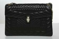 BVLGARI Black Quilted Leather Serpenti Forever Chain Handbag Shoulder Bag NEW