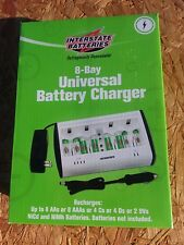 NIB 8 Bay Interstate CHG0178 Universal Rechargeable Battery Charger NiMH/NiCD