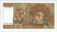 BILLET 10 FRANCS BERLIOZ J 6 11 1975 J 55716 G 253