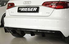 Rieger CUP Diffusor SCHWARZ für Audi A3 8V 8VA S3 S-Line Heck Ansatz Stoßstange