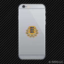 Estonian Coat of Arms Cell Phone Sticker Mobile Estonia flag EST EE