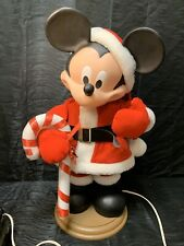 Mickey Mouse Animated Christmas Figure Decoration Moving Candy Cane Santas Best