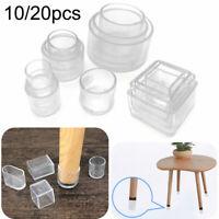 10/20 Tischfuß Stuhlbeinkappen Silikon Fußbodenschutz Tischabdeckung Möbel Caps