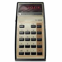 Vintage Texas Instruments TI-1200 Electronic Calculator W/Battery Free Shipping