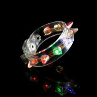 White Spike Light Up LED Bracelet Flashing Glow Wrist Band Blinking Party Fun UK