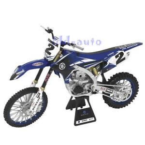NEW RAY YAMAHA YZ 450F DIRT BIKE MOTORCYCLE 1/6 #2 COPPER WEBB BLUE 49513