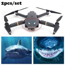 2X impermeable Tiburón 3D Etiqueta Decoración para DJI Mavic Pro Drone modo Bat