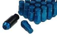 Performance Lightweight Racing Lug Nuts Set Blue 12x1.5 Thread Size 50mm Long