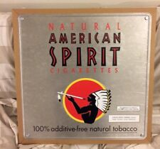 "NEW ""NATURAL AMERICAN SPIRIT CIGARETTES""  Woodmounted Aluminum Plaque Sign"