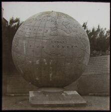 Glass Magic Lantern Slide THE GREAT GLOBE AT SWANAGE C1900 VICTORIAN PHOTO