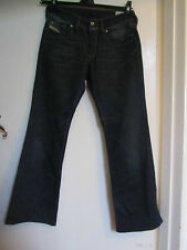 Dark Blue Low Rise Bootcut Diesel Ronhar Jeans - W28 L30 - Stretchy